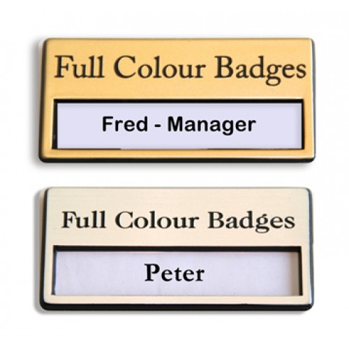 Engraved Reusable Window Badges