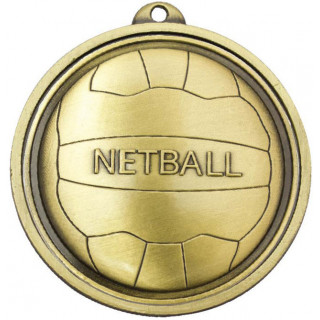 55MM Netball Emblem Medal from $8.08