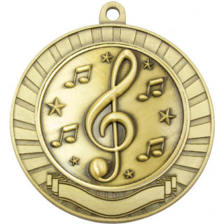 70MM Music Scroll Medal from $7.66