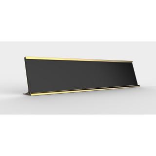 """Polished Silver or Gold """"L"""" Shape (incl. name slide)"""