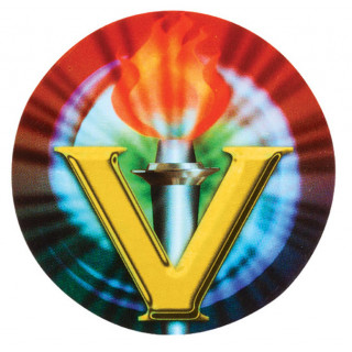Victory flame holographic